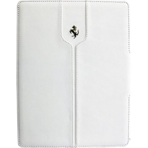 CG Mobile Ferrari Leather Folio Case Montecarlo Collection White for iPad 2017 (FEMTFCD5WH)