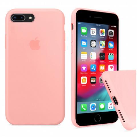 Full Silicone Case for iPhone 8 Plus/7 Plus - grapefruit