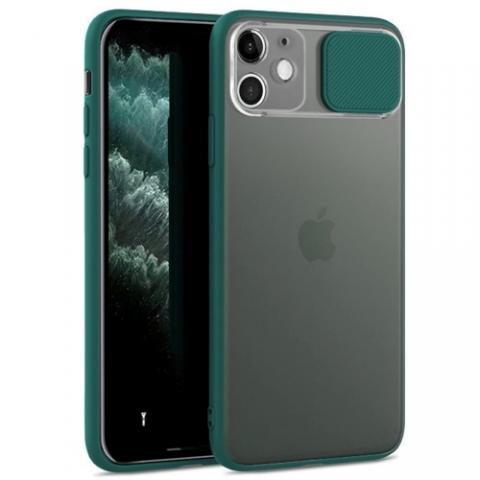Чехол Slide Hide Camera для iPhone 11 - green