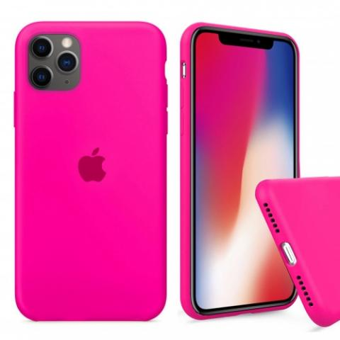 Чехол Full Silicone case для iPhone 11 Pro Max - Barbie Pink
