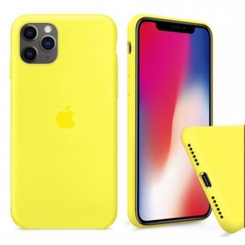 Чехол Full Silicone case для iPhone 11 Pro Max - Yellow