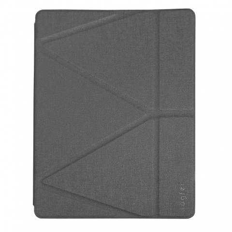 Чехол Logfer с держателем для стилуса для iPad Air - серый