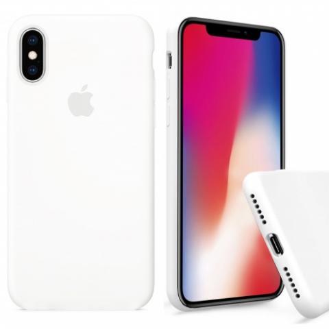 Чехол Full Silicone case для iPhone XS Max - White