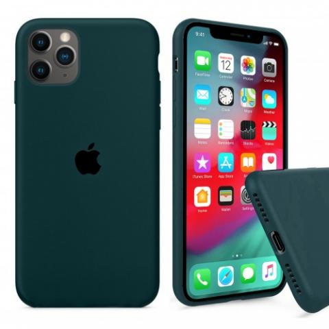 Чехол Full Silicone case для iPhone 11 Pro Max - Forest Green