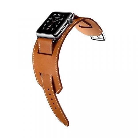 Ремешок для Apple Watch 38/40мм - Coteetci W10 Hermes коричневый