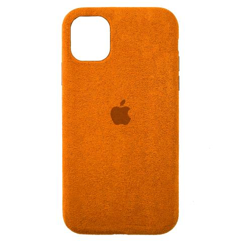 Чехол Alcantara для iPhone 12 Pro Max - Orange