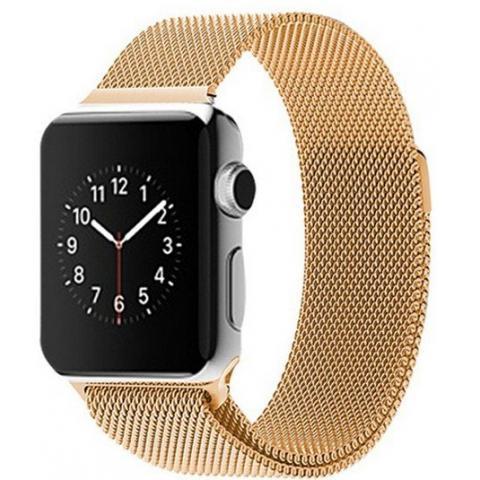 Ремешок Milanese Loop для Apple Watch 42/44 - Gold
