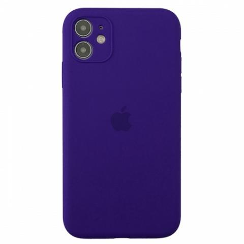 Чехол Silicone Case Full Camera для iPnone 11 - Ultra Violet