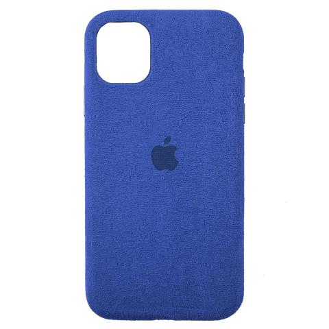 Чехол Alcantara для iPhone 12 Pro Max - Blue
