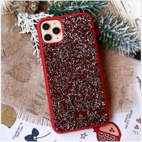 Чехол Bling World Pearl Diamonds (TPU) iPhone 11 Pro Max Marsala