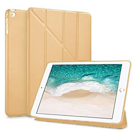"Чехол Y-type Case (PU Leather + Silicone) для iPad 7 10.2"" (2019) - Gold"