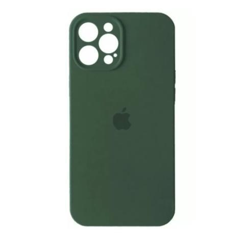 Силиконовый чехол с защитой для камеры для iPhone 12 Pro Max - Pine Green