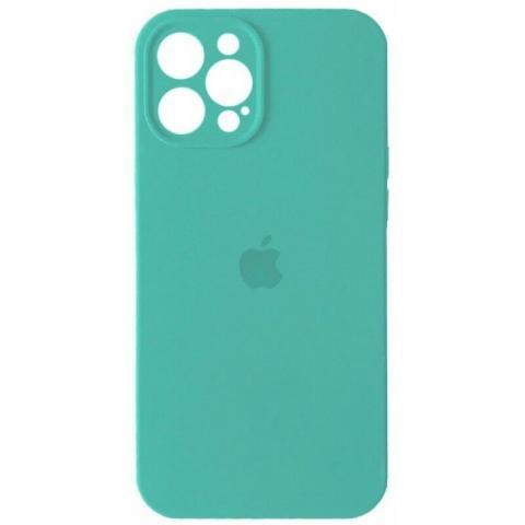 Силиконовый чехол с защитой для камеры для iPhone 12 Pro Max - Sea Blue
