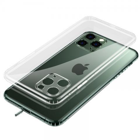 Прозрачный силиконовый чехол с заглушкой+защита камеры for iPhone 11 Pro Max