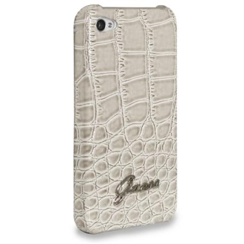 Guess Croco Back Cover Beige for iPhone 4/4S