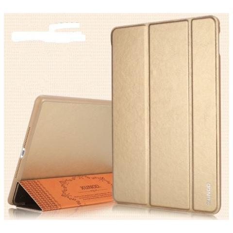 Кожаный чехол XUNDD Luxury Fashion Folded для iPad Air 2 - золотой