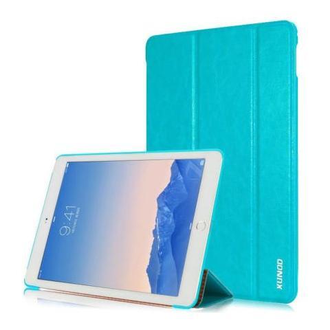 Кожаный чехол XUNDD Luxury Fashion Folded для iPad Air 2 - голубой