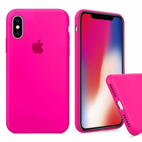 Чехол Full Silicone case для iPhone X/XS - Barbie Pink