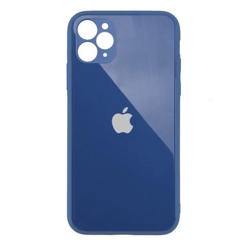 Стеклянный чехол с защитой для камеры для iPhone 11 Pro Max Midnight Blue