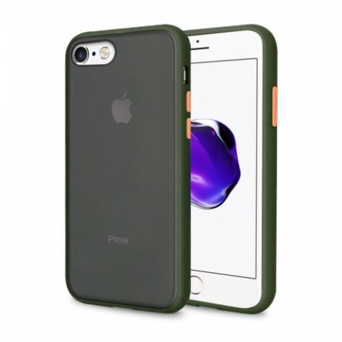 Противоударный чехол AVENGER для iPhone 7/8 - Khaki/Orange