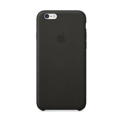 Оригинальный кожаный чехол Apple iPhone 6 Leather Case Black (MGR62ZM/A)