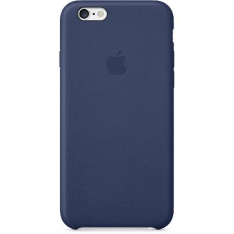 Оригинальный кожаный чехол Apple iPhone 6 Leather Case  Blue (MGR32ZM/A)