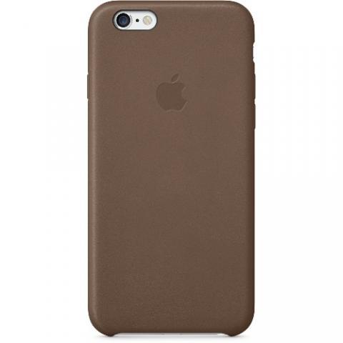 Оригинальный кожаный чехол Apple iPhone 6 Leather Case Olive Brown (MGR22ZM/A)