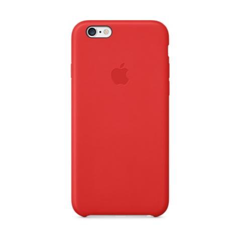 Оригинальный кожаный чехол Apple iPhone 6 Leather Case (PRODUCT) RED (MGR82ZM/A)