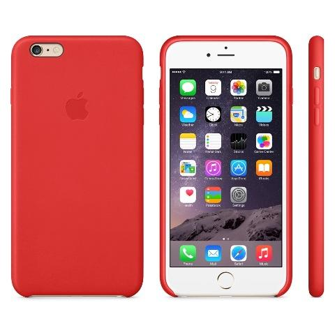 Чехол Apple Case для iPhone 6 Plus Leather RED