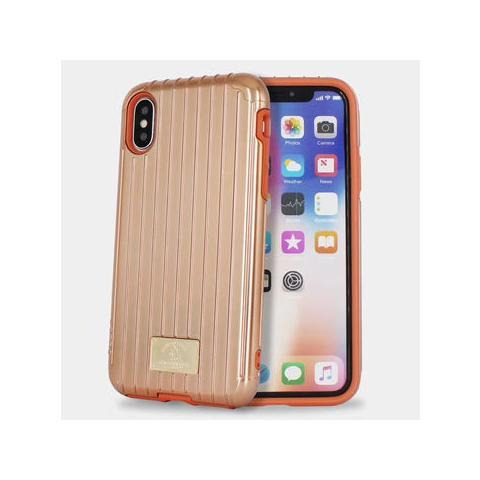 Чехол POLO Lenard Suitcase Shape Double Protective Cases для iPhone X Gold