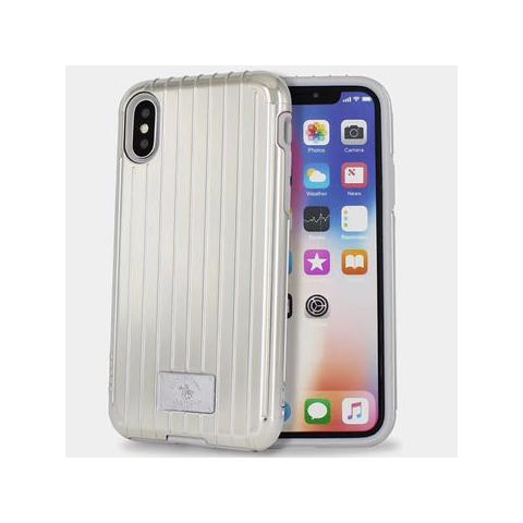 Чехол POLO Lenard Suitcase Shape Double Protective Cases для iPhone X Silver