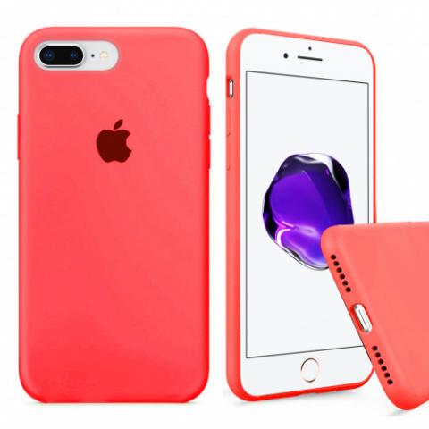 Full Silicone Case for iPhone 8 Plus/7 Plus - coral