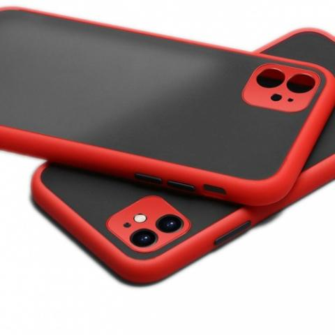Противоударный чехол HULK с защитой для камеры для iPhone 11 - Red/Black