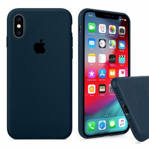 Чехол Full Silicone case для iPhone XS Max - Forest Green