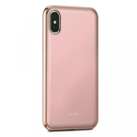 Чехол-накладка Moshi iGlaze для Apple iPhone X розовый