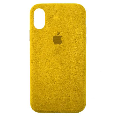 Чехол ALCANTARA для iPhone XS Max Yellow