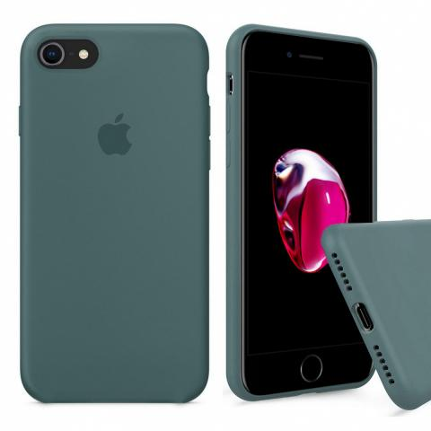 Full Silicone Case for iPhone 8/7 - Pine Green