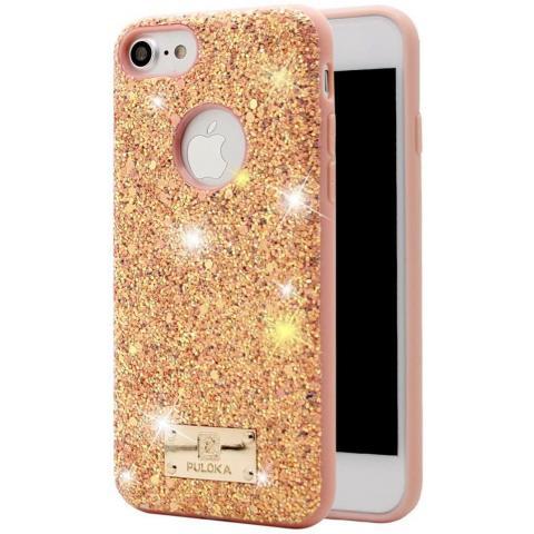 Чехол Puloka Shiny Texture для iPhone 7/8 Pink
