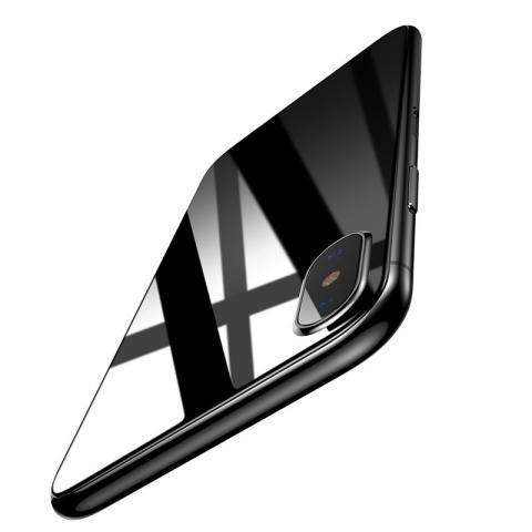 Защитное стекло Baseus 0.3mm Silk-screen Back Glass черное для iPhone X