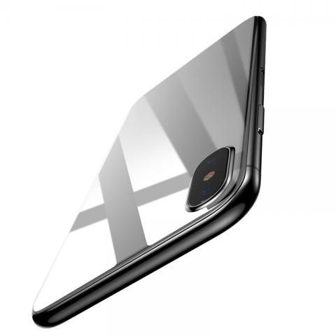 Защитное стекло Baseus 0.3mm Silk-screen Back Glass белое для iPhone X