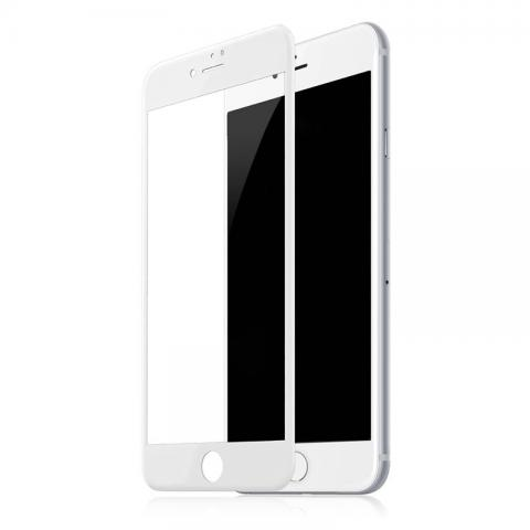 Защитное стекло 4D для iPhone 7 Plus - White