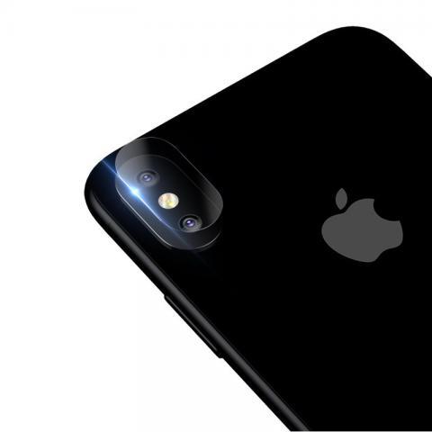 Защитное стекло Baseus прозрачное для камеры iPhone X