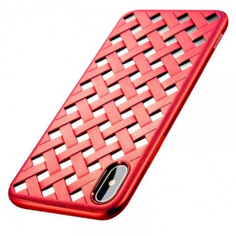 Чехол Baseus Paper-Cut Case for iPhone X Red (WIAPIPHX-BG09)