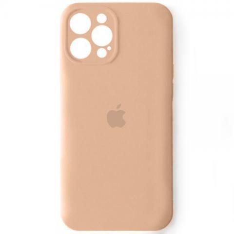 Силиконовый чехол с защитой для камеры для iPhone 12 Pro Max - Pink Sand