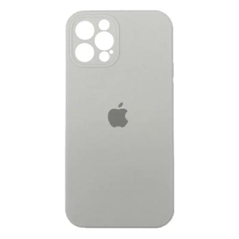 Силиконовый чехол с защитой для камеры для iPhone 12 Pro Max - White