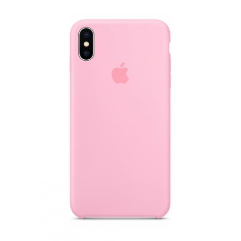 Apple Silicone Case для iPhone XS Max - Pink (Hi-Copy)
