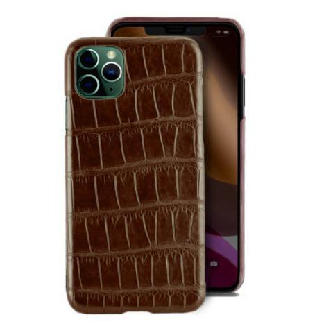 Чехол Crocodile Premium Leather Case для iPhone 11 Pro Max Brown