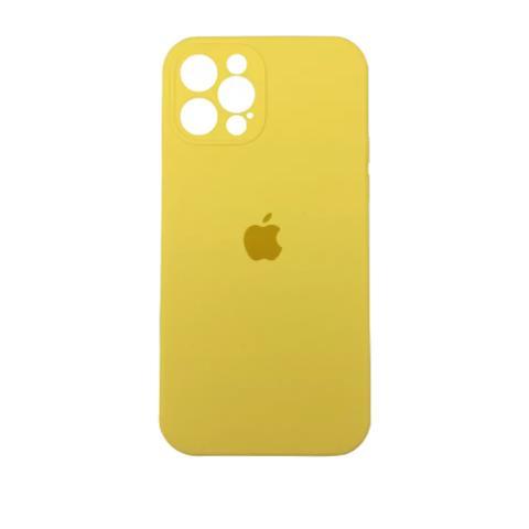 Силиконовый чехол с защитой для камеры для iPhone 12 Pro Max - Yellow