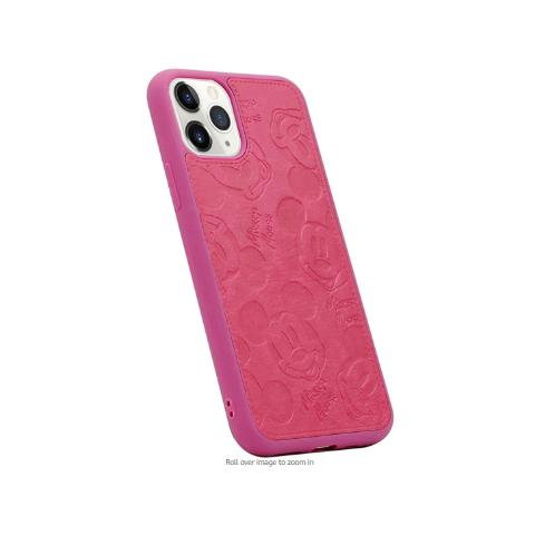 Чехол Mickey Mouse Leather для iPhone 11 - Hot Pink