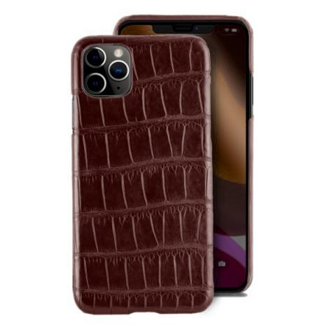 Чехол Crocodile Premium Leather Case для iPhone 11 Pro Burgundy red